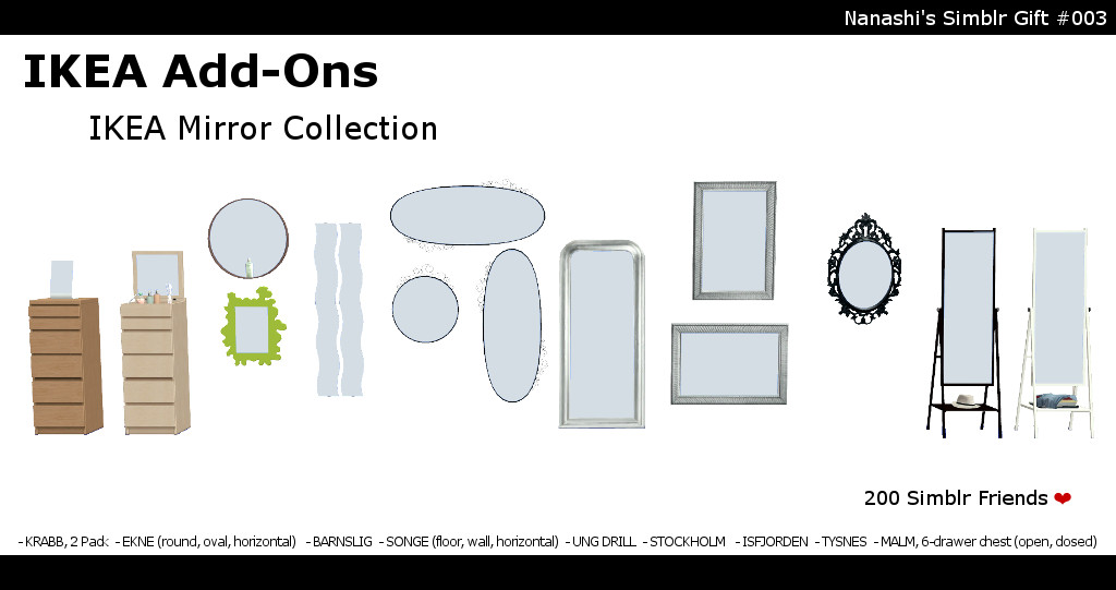 nanashi-ikea_add-on_mirror_collection